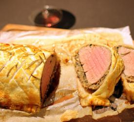 Beef Wellington med Rødvinsglace