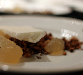 Nytårsmenu 2013 - Dessert: Brunet smør is, marengs og æble