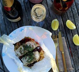 Søtunge en Papillote - med masser af champagne
