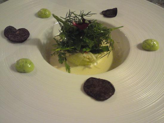 Salat af kongekrabbe med krydderurter