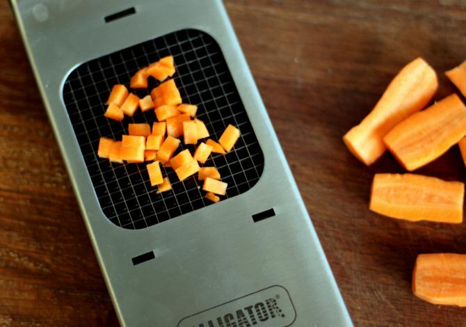 I denne ret skal gulerødderne se ens ud...