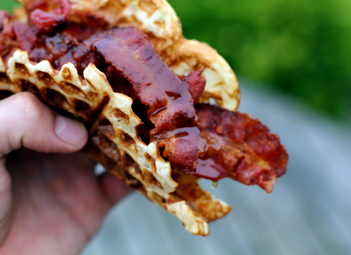 Bacon And Waffles - Breakfast for Champions: