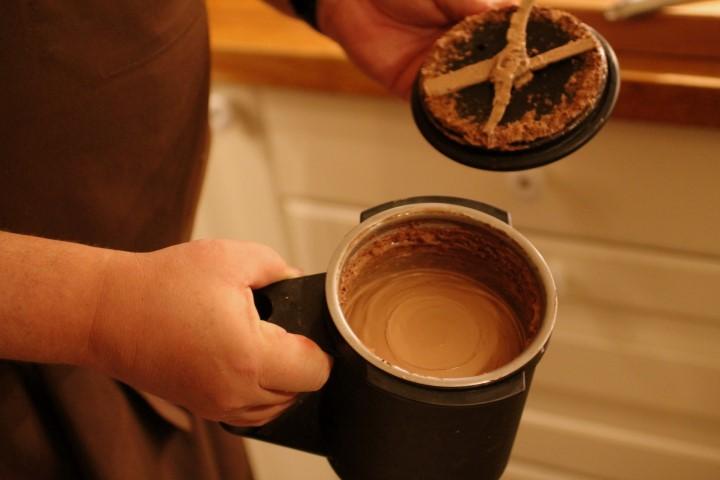 fantastisk chokoladeis (med fløde). OBS! Findes IKKE i kogebogen.