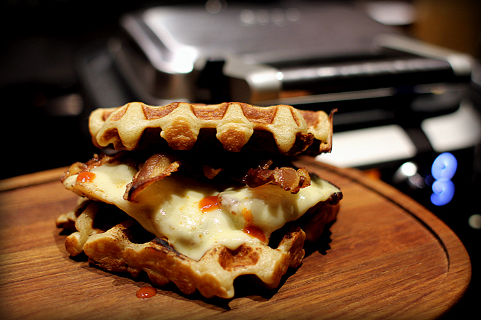 American Style: Chicken and Waffles...