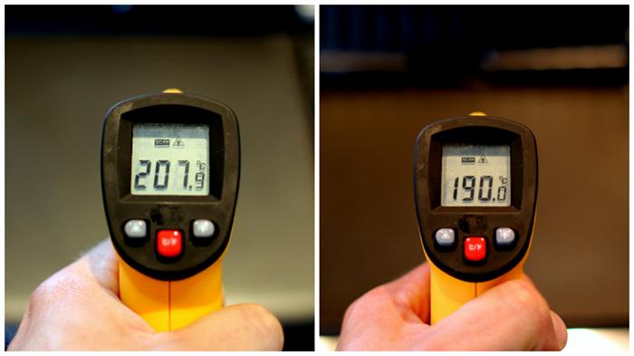 Tjek lige temperaturen til højre - fandme præcist!