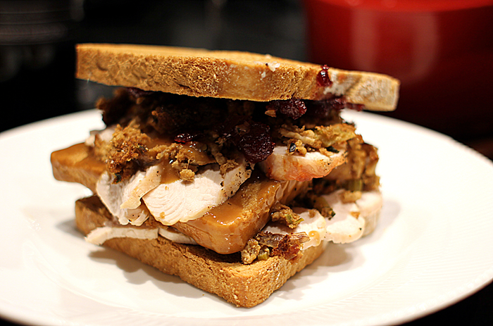 Ross Sandwich som desværre bliver spist...
