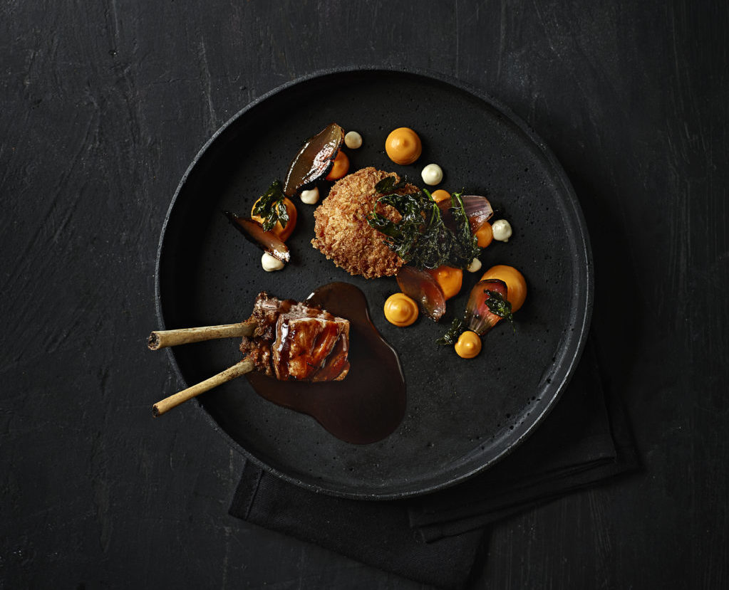 Lammekrone, skank, græskar og løg