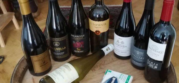 VIN UDEN PIS: Blandede bolscher i vinspalten.