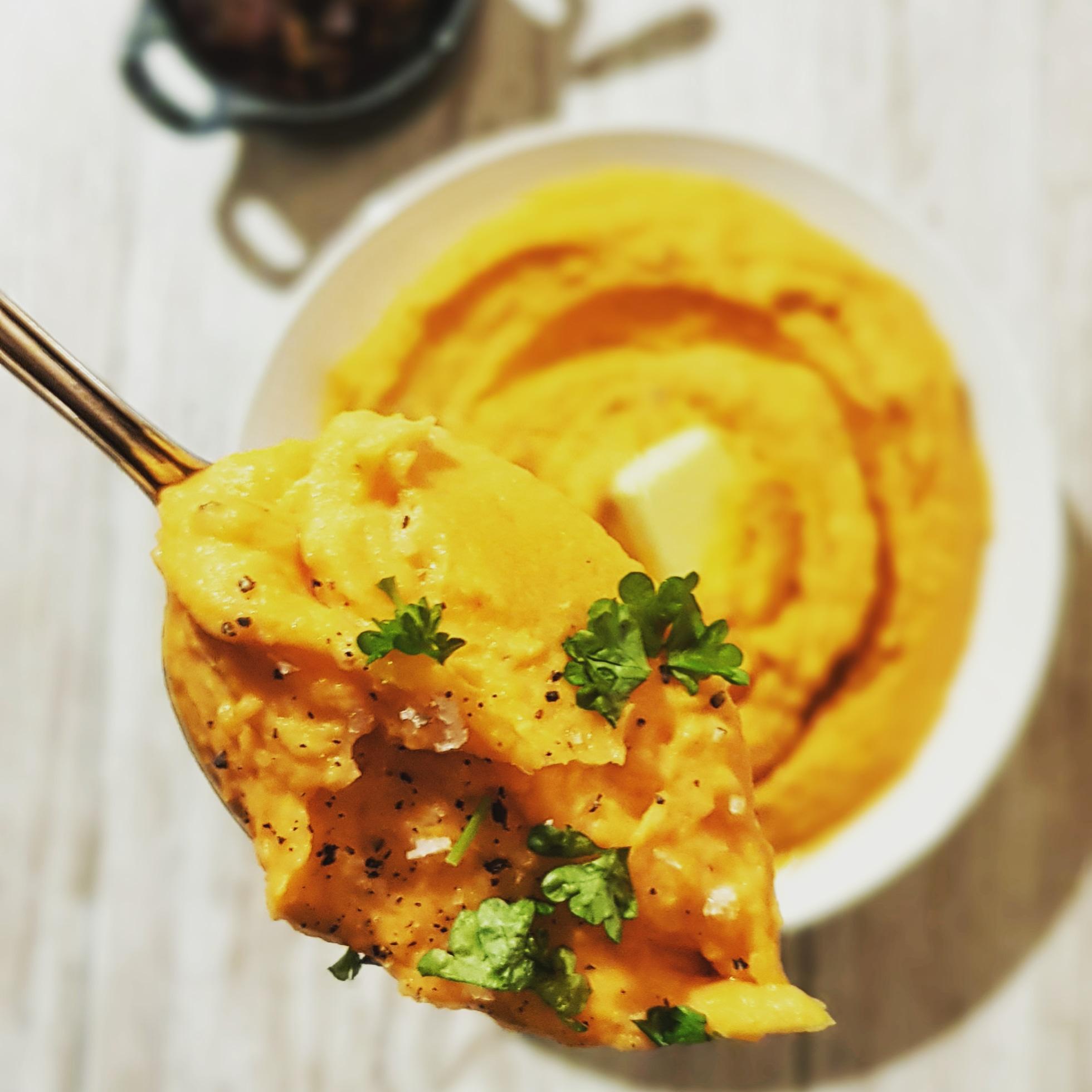 Mashed Sweet Potatoes – mos af søde kartofler