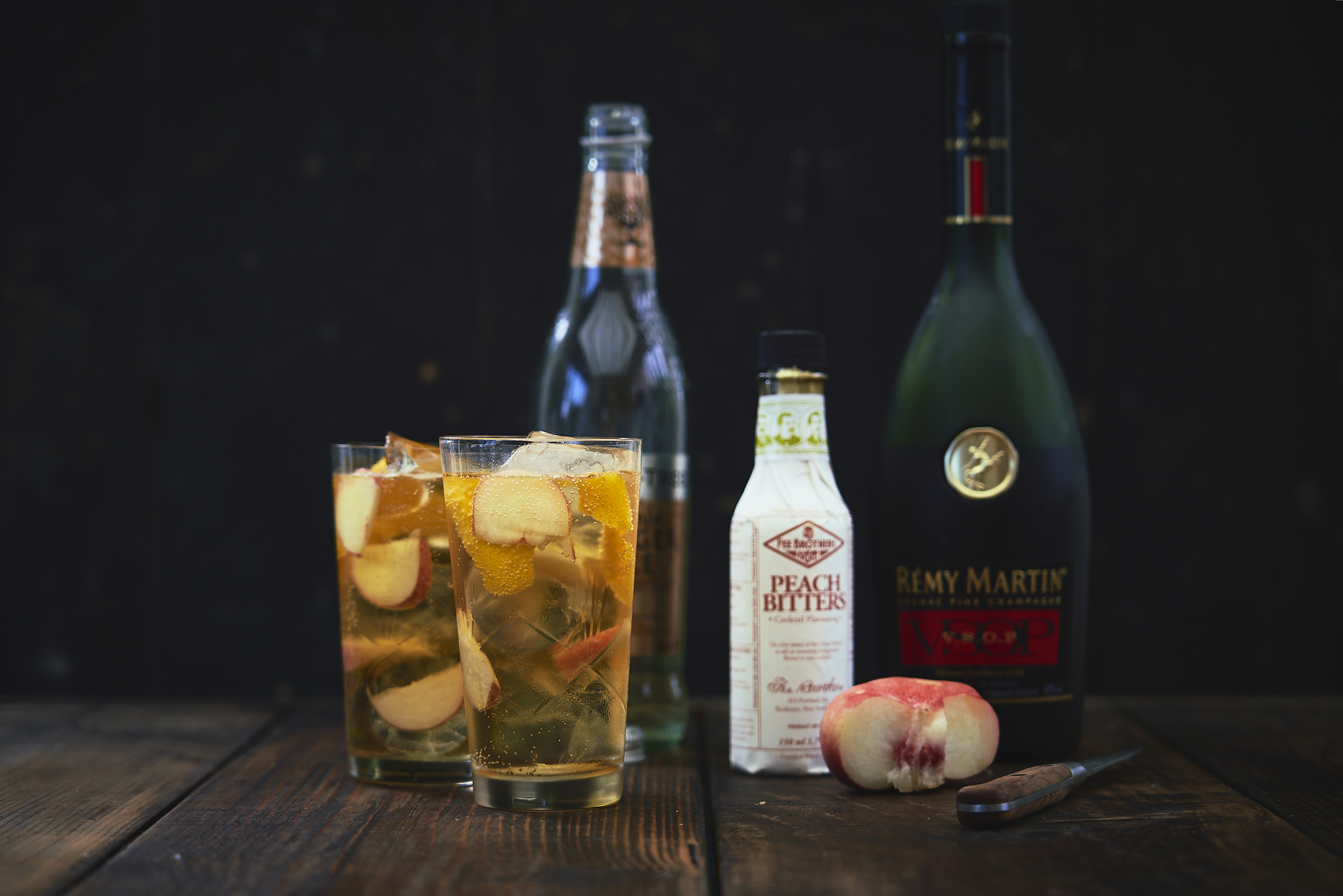 Peachy Centaur cocktail.